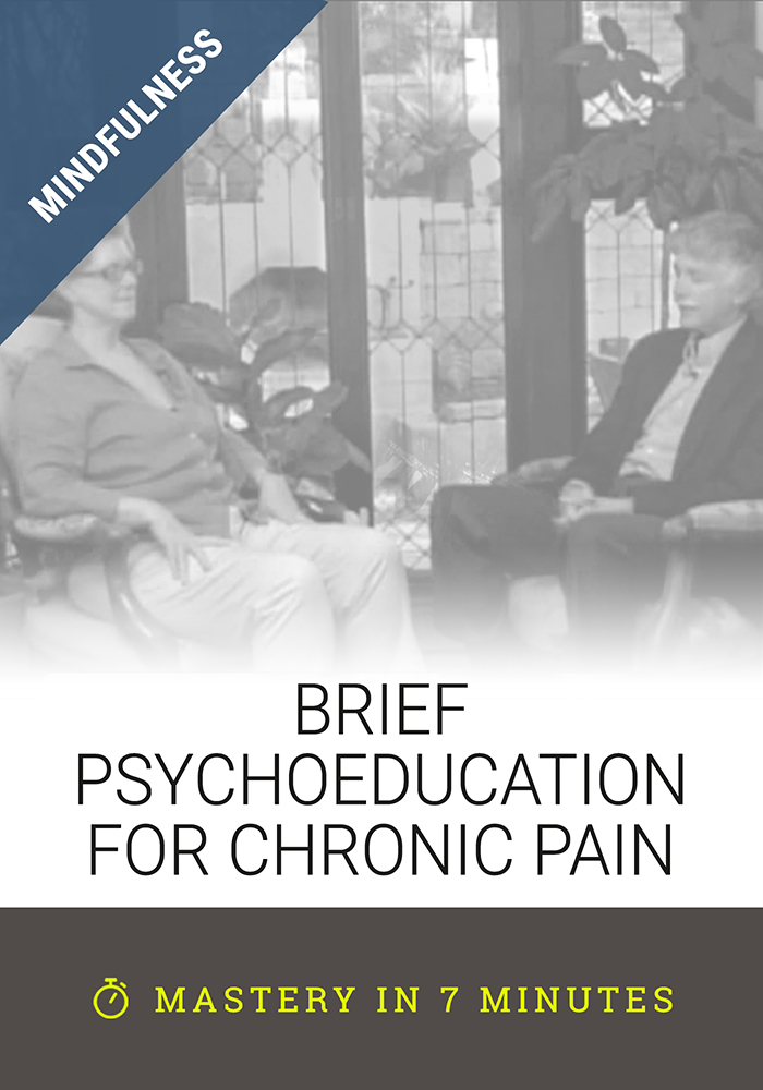 Brief Psychoeducation for Chronic Pain