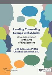 Leading Counseling Groups with Adults: A Demonstration of the Art of Engagement