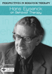 Hans Eysenck on Behavior Therapy